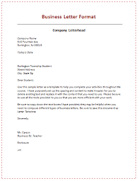 format business letter the best letter sample