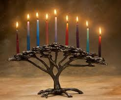menorah candle holder arboreal bronze menorahs tree candle holder