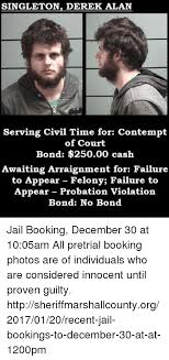 Serving Memes - singleton derek alan serving civil time for contempt of court bond