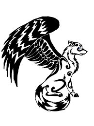 winged wolf design by dragondescendant on deviantart