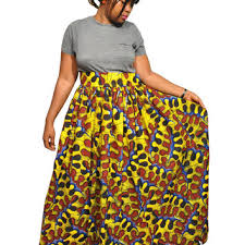 african print maxi skirt plus size maxi from kwanzainspiratione