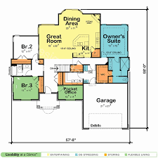 one story open concept floor plans house plans one story lovely open floor plans single level home with