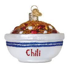 world ornaments food bowl of chili glass ornament 32235