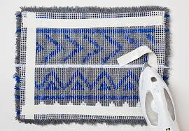 Hook Latch Rugs Attractive Design How To Finish A Latch Hook Rug Amazing