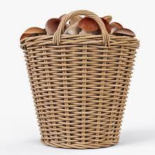 Laundry Hamper Ikea by Wicker Basket Ikea Nipprig With Mushrooms By Markelos 3docean