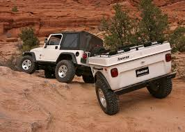 jeep hauling trailer off road trailers ideal to explore backcountry rolling homes