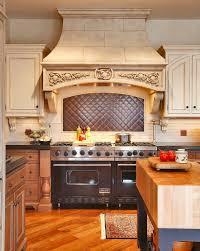 Copper Tile Backsplash For Kitchen - copper tile backsplash kitchen traditional with china salad and