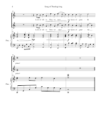 hymns of thanksgiving and praise song of thanksgiving by amy j van dyk 2 part choir