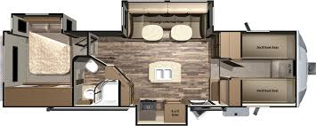 2 bedroom travel trailer floor plans bunkhouse motorhome front