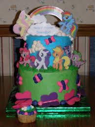 my little pony cake with fluttershy rainbow dash pinkie pie