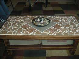 Diy Coffee Tables by Refinished Coffee Table With A Tile Top And New Wood Moulding