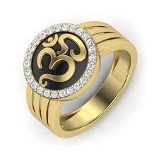 men rings buy the om men ring in 10k yellow gold with ij si diamonds