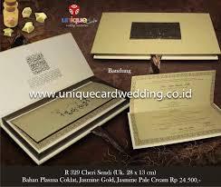 Cover Invitation Card Undangan Hard Cover By Unique Card Wedding Invitation Bridestory Com