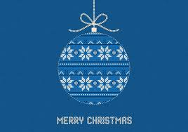 blue knitted merry christmas vector background download free