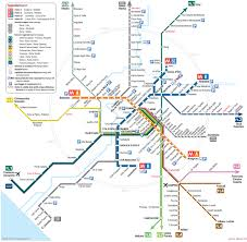 Seattle Link Rail Map Map Of Rome Train Urban Commuter U0026 Suburban Railway Network