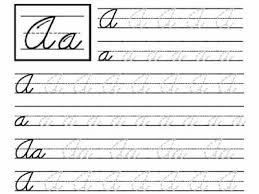 free printable cursive worksheets for 3rd grade 3 ny pinterest