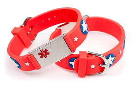bracelet red images Medical id bracelet red stars icetagsid jpg
