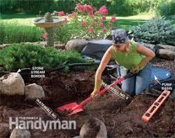 Building A Backyard Garden by Build A Backyard Waterfall And Stream Family Handyman