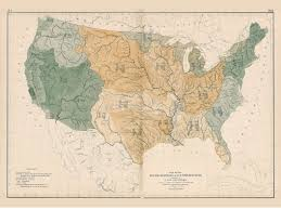 Smithsonian Map Usa Rivers Map 1872 Reprint 9th Census Atlas