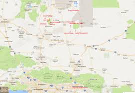 California Cities Map Weekend Adventure California City And Surrounding Ohv Areas