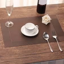 large plastic table mats 2pcs cross weave pvc place mat non slip stain resistant heat