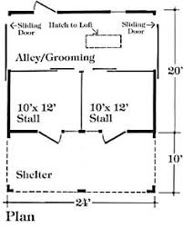 Barn Plans by Chestnut Four Stall Horse Barn Plans Put Another