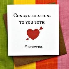 Congratulations Engagement Card Congratulations Lovewins Wedding Card Commitment