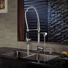 kraus commercial pre rinse chrome kitchen faucet caesarstone counters in 4141 with a stainless