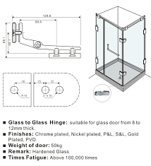 glass to glass angle round glass door hinges gdh 0052