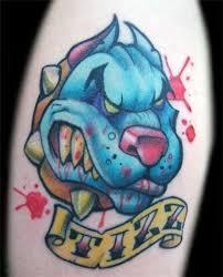 pit bull tattoo by rietone on deviantart