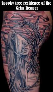cool cryptic grim reaper tattoos