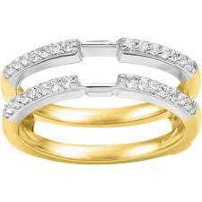 wedding ring jackets refined style 28ct prong set cubic zirconia 10 karat gold