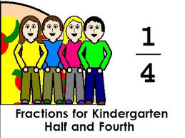 fractions for kindergarten half and fourth youtube