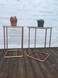 industrial style furniture copper side tables pair industrial style furniture reclaimed