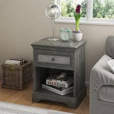 bedroom affordable nightstands white wood bedside table mirrored