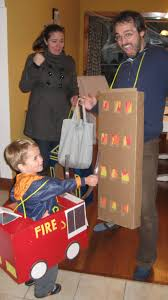 fire truck and burning building halloween costume w bonus