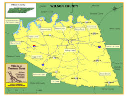 Map Tennessee Wilson County Tennessee Century Farms