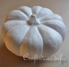 styrofoam pumpkins autumn textile craft project needle felted fall pumpkin