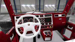 w900 the red and white interior kenworth w900 for american truck simulator