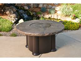 Outdoor Table With Firepit by Outdoor Greatroom Colonial Fiberglass 48 Round Coffee Fire Pit