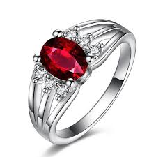 red silver rings images 2018 30 silver ruby white gold rings perfect cut red ruby jpg