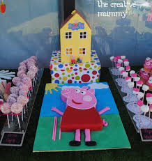 peppa pig party molly s peppa pig party thecreativemummy