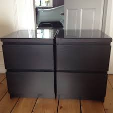 ikea bedside cabinets malm ikea malm bedside table with drawers small chest of black idolza