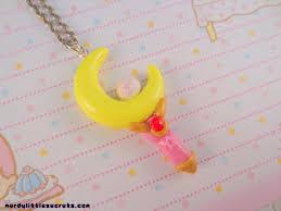 sailor moon crescent moon wand necklace nerdy secrets