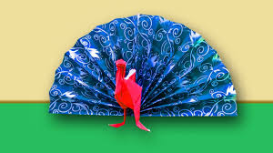 paper craft ideas for kids how to make paper peacock peacock