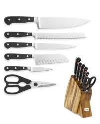 wusthof kitchen knives wüsthof large studio 7 knife block set williams sonoma