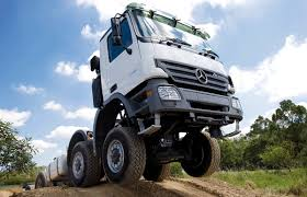 mercedes prime mover in drive logistics trucking transport prime mover