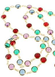 color crystal necklace images Vintage swarovski bezel set multi color crystal open back necklace jpg