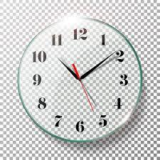 Office Wall Clocks Realistic Wall Clocks Set Vector Illustration Wall Office Clock