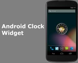 widget android android clock widget